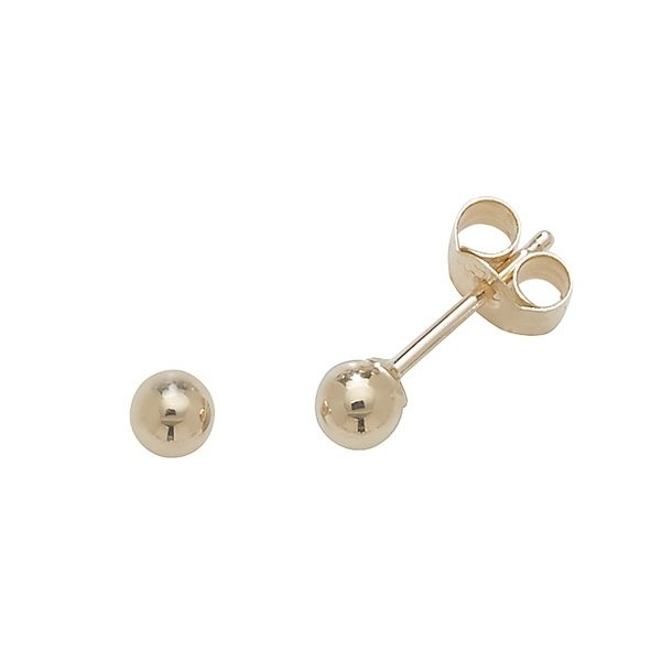 9 carat gold 3mm stud earring