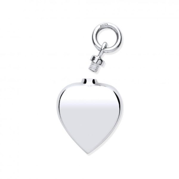 Sterling Silver Heart Shaped Ashes Holder