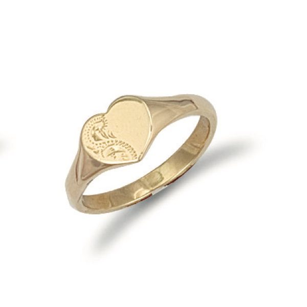 9 carat yellow gold maiden signet ring