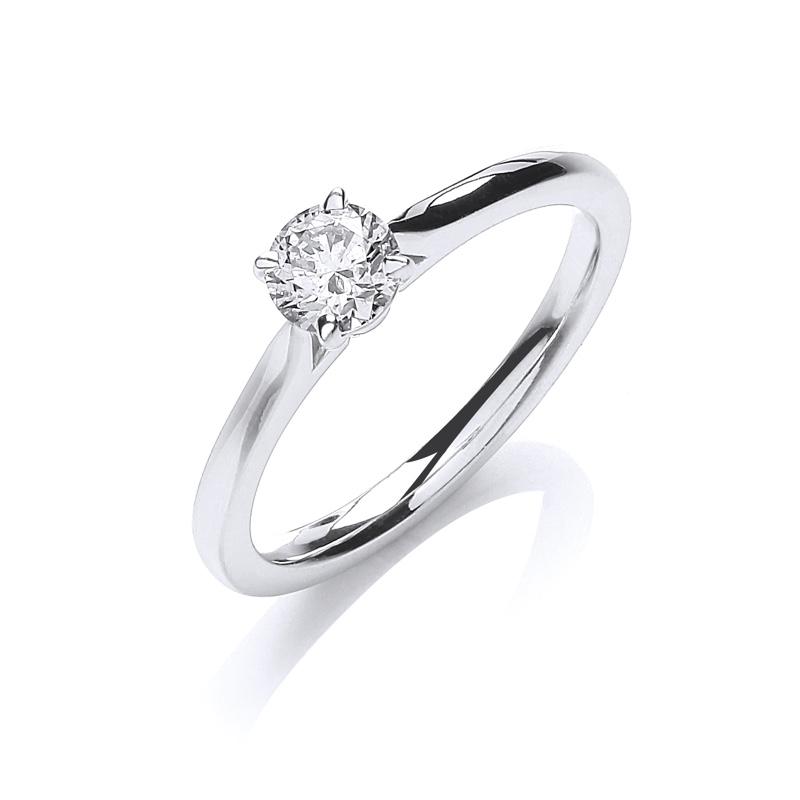 18ct White Gold Diamond Solitaire Ring Northumberland Goldsmiths