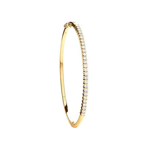 18 carat yellow gold diamond bangle
