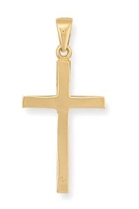 9 carat gold solid cross pendant