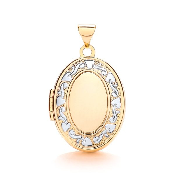 9 Carat Gold Oval Shaped Family Locket