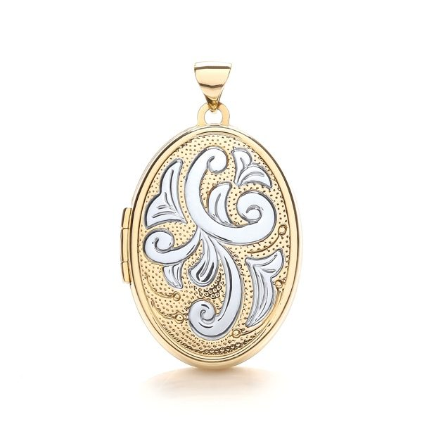 9 Carat Yellow & White Gold Family Locket