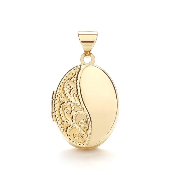 9 Carat Yellow Gold Oval Locket