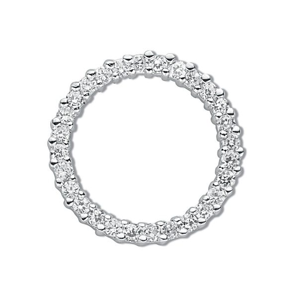 Cubic Zirconia Circle Pendant