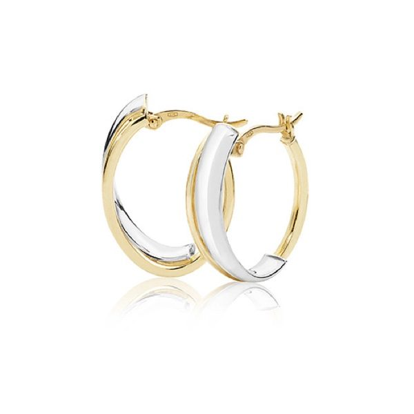 9 carat gold dual gold earrings