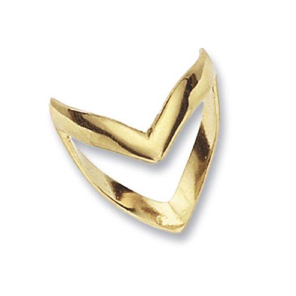 9 carat gold wishbone ring
