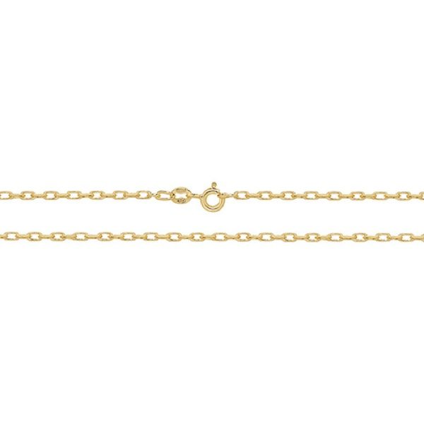 9 Carat Yellow Gold Diamond Cut Belcher Chain