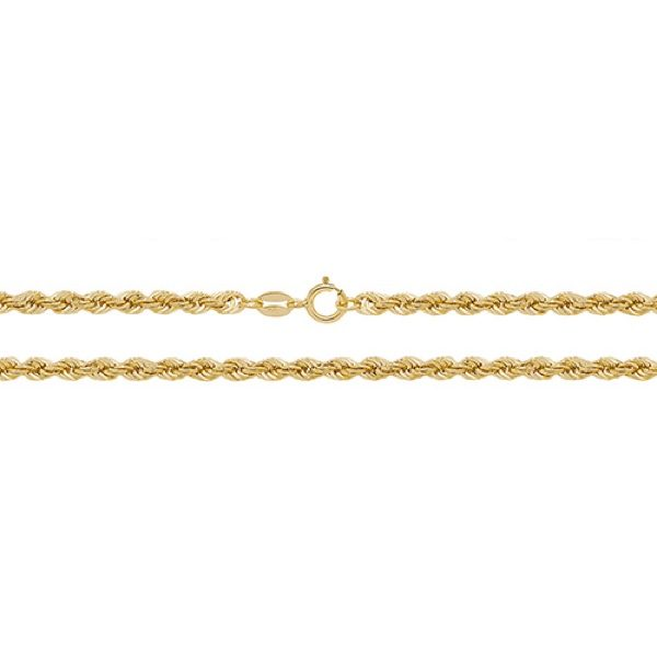 9 Carat Yellow Gold Rope Chain