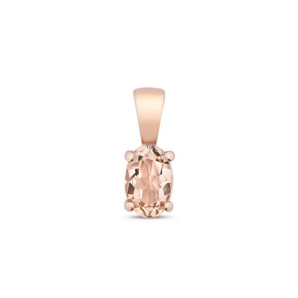 9 carat rose gold Morganite pendant