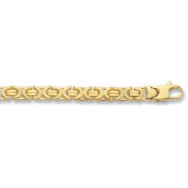 9 Carat Yellow Gold Byzantine Chain