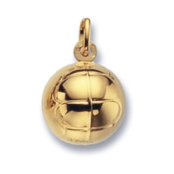 9 carat yellow gold football pendant