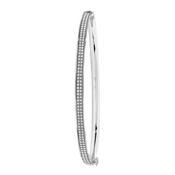 9ct white gold ladies bangle