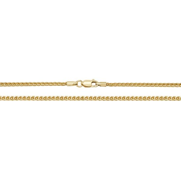 9 Carat Yellow Gold Spiga Chain