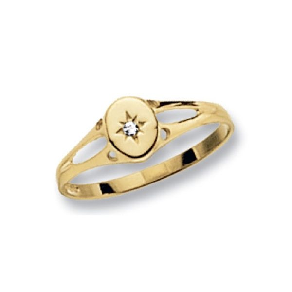 9 carat yellow gold maidens signet ring oval shaped