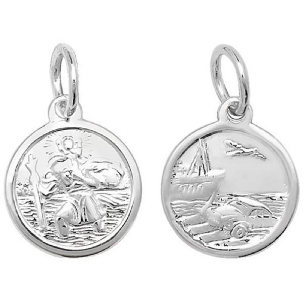 Sterling Silver Round St Christopher