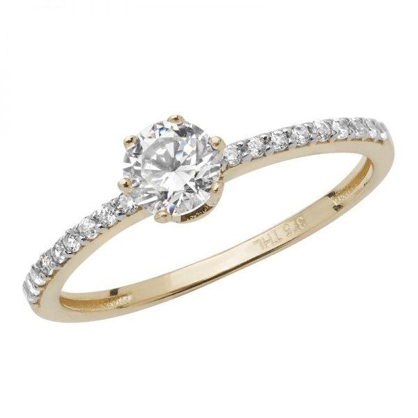 9 carat gold cubic zirconia dress ring