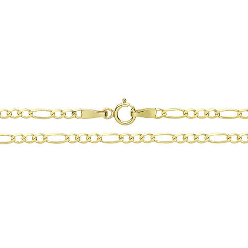 9 Carat Yellow Gold Figaro Chain