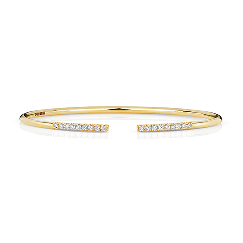 18 carat yellow gold diamond bracelet