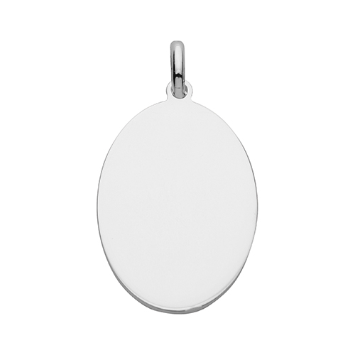 Sterling Silver Oval Tag Pendant