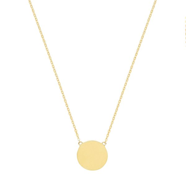 9 Carat Gold Disc And Chain