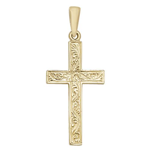 9 carat gold fancy cross