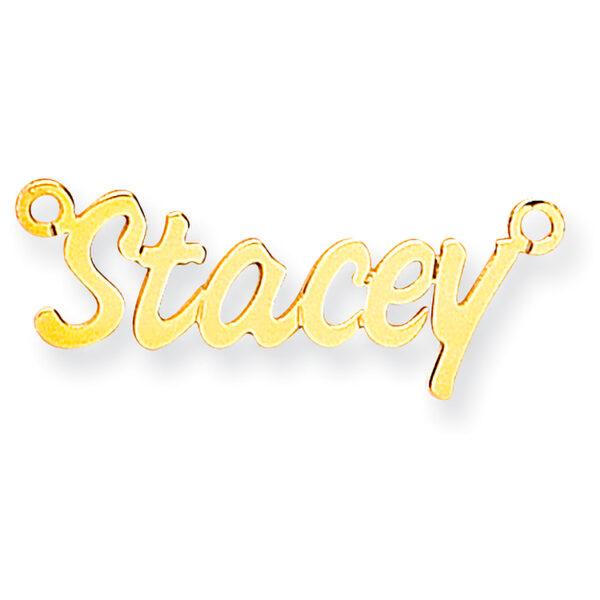 9 carat gold 4 letter nameplate