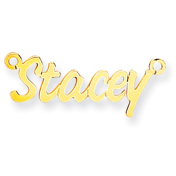 9 carat yellow gold 5 letter nameplate