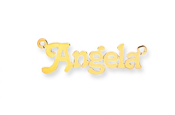 9 carat yellow gold nameplate 7 letters