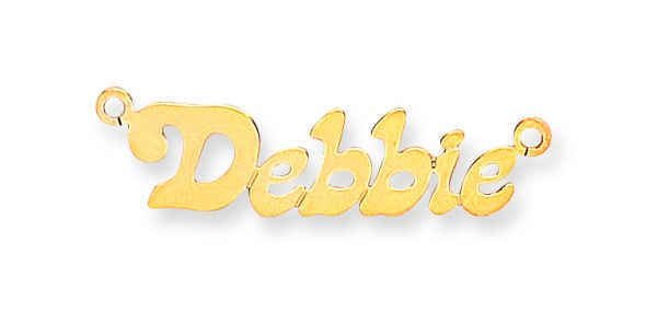 9 carat yellow gold 7 letter nameplate