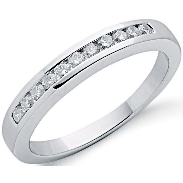 9 carat white gold diamond eternity ring