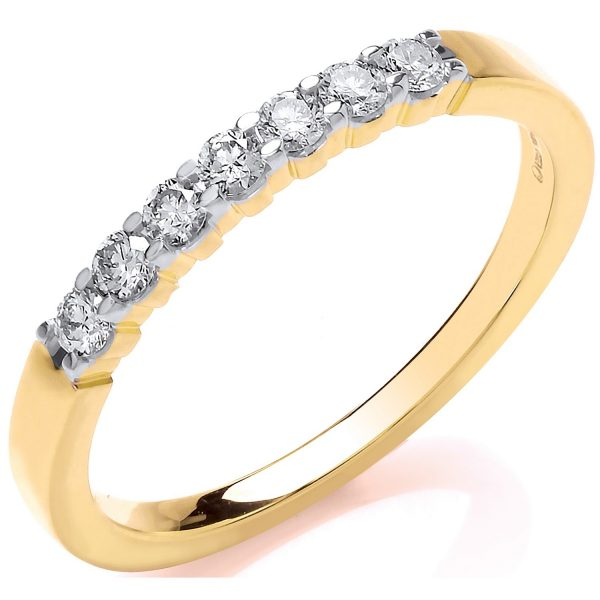 9 carat yellow gold diamond eternity ring