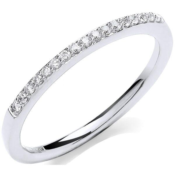9 carat white gold eternity ring