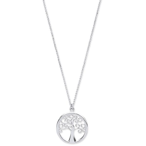 tree of life silver pendant and chain