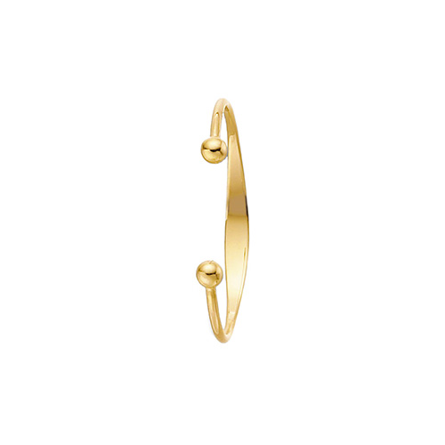 9 carat yellow gold solid babies torque ID bangle