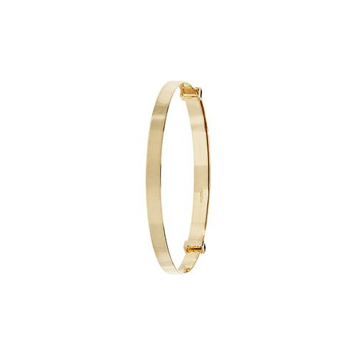 9 carat yellow gold plain expandable baby bangle