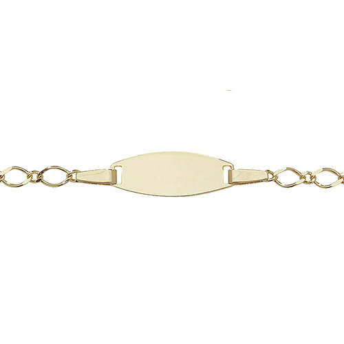 9 carat gold babies id bracelet