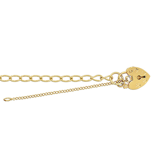 9 carat yellow gold babies charm bracelet