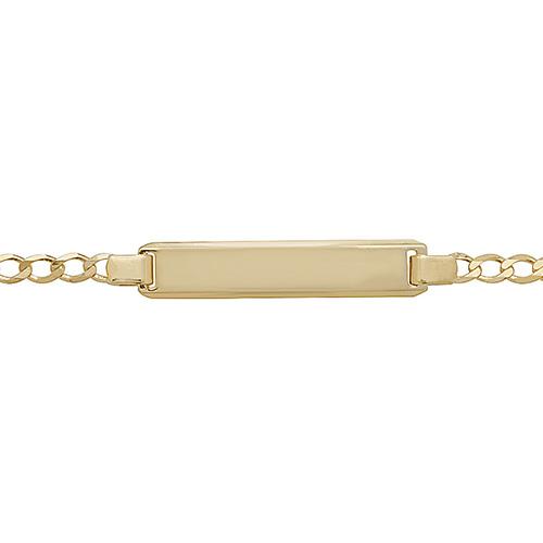 9 carat 6 inch baby id bracelet
