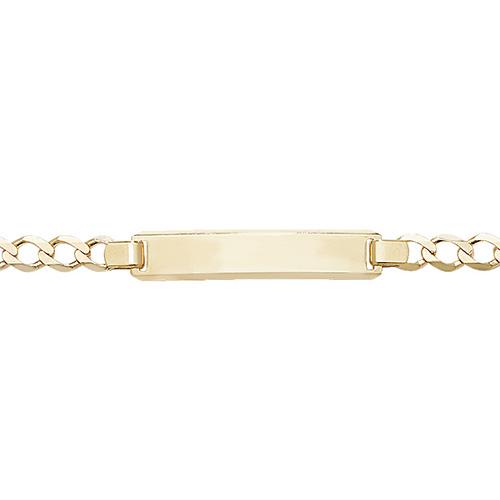 9 carat yellow gold baby id bracelet