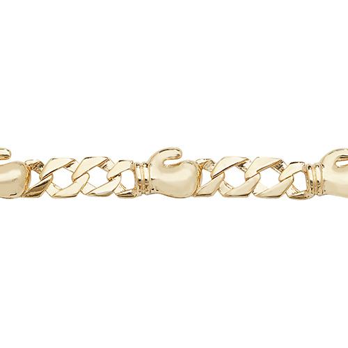 9 carat gold 6 inch babies boxing bracelet