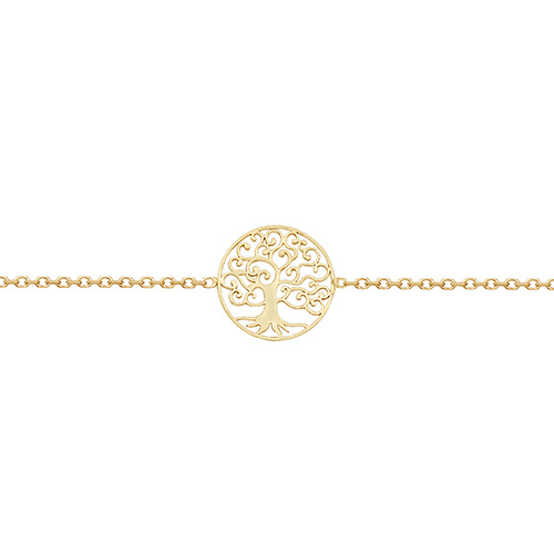 9 carat yellow gold ladies tree of life bracelet