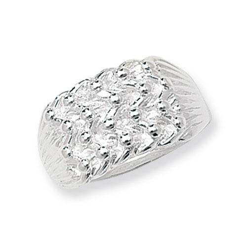 Men's Silver Keeper Ring