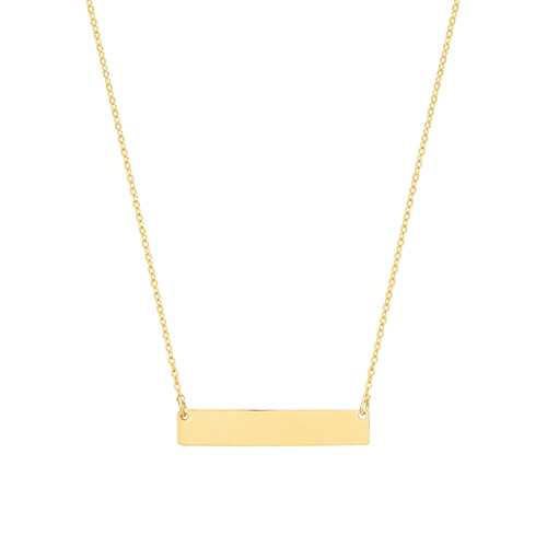 9 carat gold horizontal bar necklet