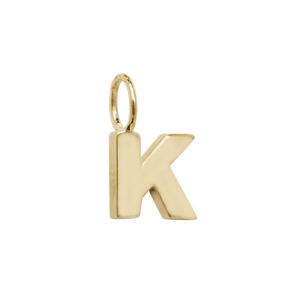 9 carat yellow gold K pendant