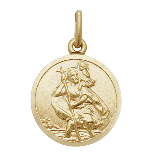 9 Carat Yellow Gold St Christopher Pendant