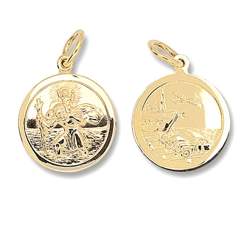 9 Carat Yellow Gold Saint Christopher Pendant