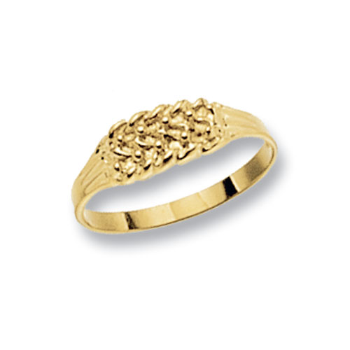 9 carat yellow gold babies ring