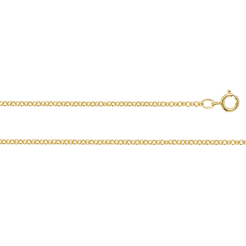 9 Carat Yellow Gold Round Belcher Chain